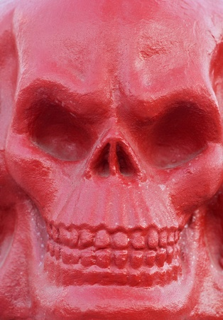 Red skull statue  photo