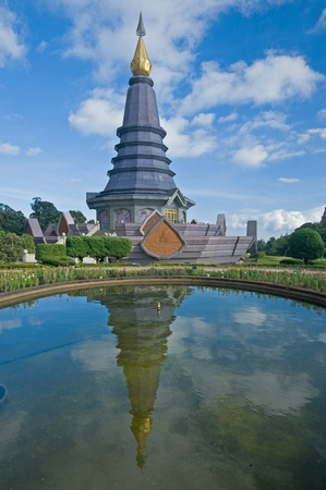 Place leisure travel, Doi Inthanon national park of Thailand  Vantage point to view both sunrise and sunset