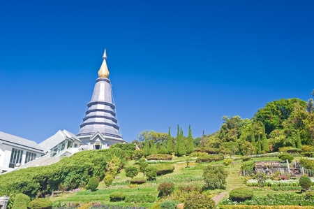Place leisure travel, Doi Inthanon national park of Thailand  Vantage point to view both sunrise and sunset   Stock Photo - 13457538