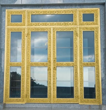 Artistic glass doors  Stock Photo