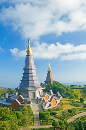 Place leisure travel, Doi Inthanon national park of Thailand  Vantage point to view both sunrise and sunset   Stock Photo - 13457499