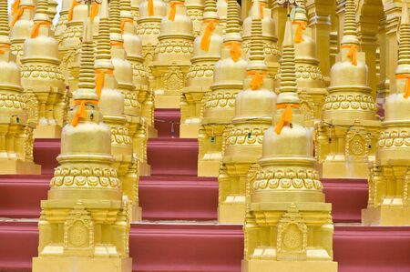 Five hundred golden pagodas at Saraburi ,Thailand  Stock Photo - 13425620