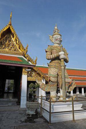 Giant sculpture in Wat Phra Kaew Temple, Thailand  Stock Photo - 14005597