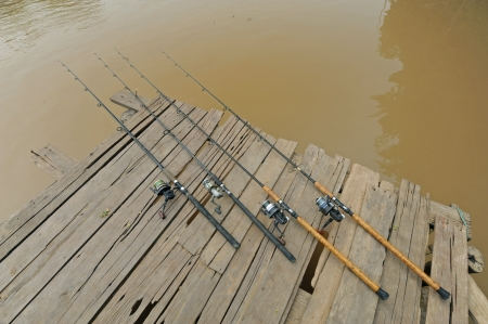 Fishing rod and river