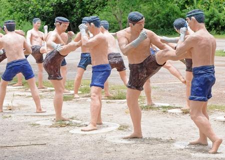 El boxeo tailand�s Escultura