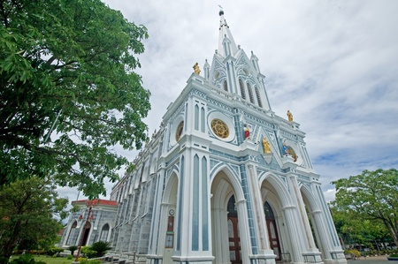 The Roman Catholic Church The Nativity of Our Lady Cathedral , Samutsongkhram, Thailand Stock Photo