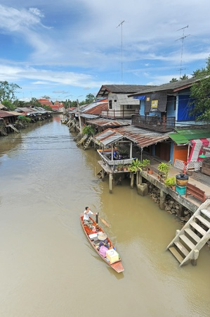 Old water town at Amphawa, Thailand