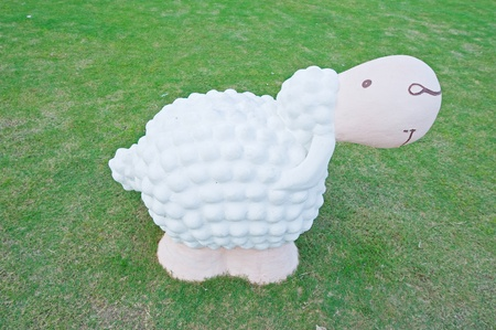 Sheep statue photo