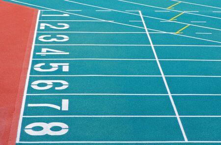 Athletics Track Lane Numbers Stock Photo - 18047372