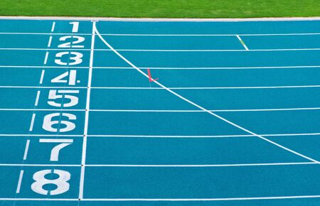 Athletics Track Lane Numbers Stock Photo - 18047357