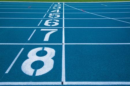 Athletics Track Lane Numbers Stock Photo - 18208621