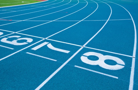 Athletics Track Lane Numbers Stock Photo - 18208620