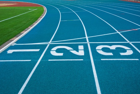 Athletics Track Lane Numbers Stock Photo - 18208619