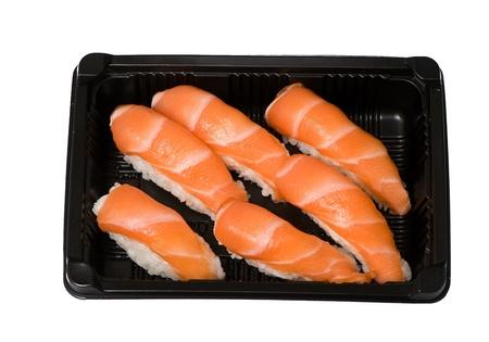 Japanese sushi seafood isolated on white background