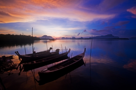 Many boats in the sea, Thailand