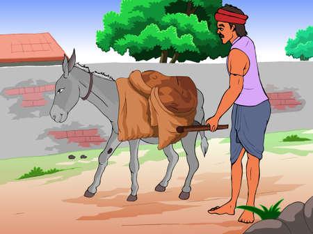 Donkey with Porter