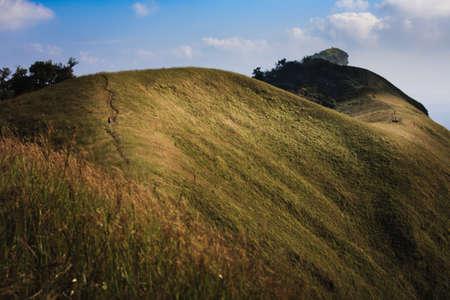 ridges: Golden ridges and meadows Stock Photo