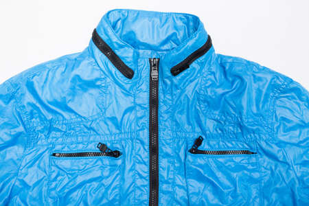 waterproof: blue windbreaker waterproof  jacket full zip