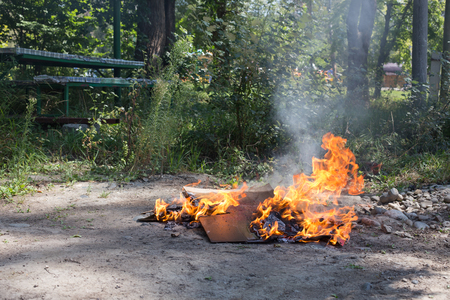 norms: Illegal burning of waste in violation of environmental norms.
