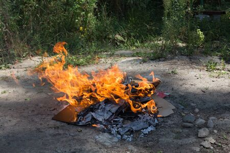 punishable: Illegal burning of waste in violation of environmental norms.
