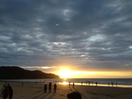 nexus: Nexus beach karambunai Sabah Stock Photo