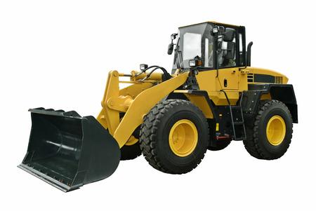 Yellow wheel loader Banco de Imagens
