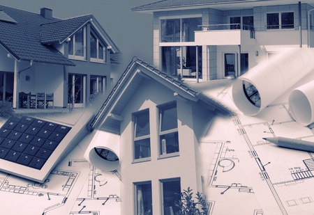 prefabricated: Composing with blueprints, houses and Calculator