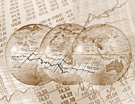 Global Stock Trading Stock Photo