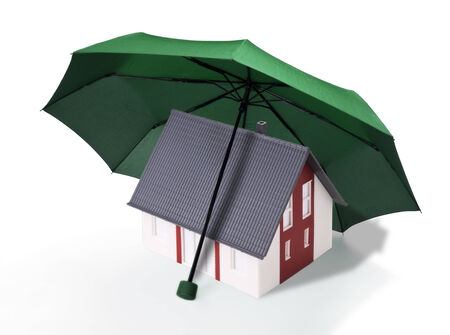 Home is protected by a green umbrella photo