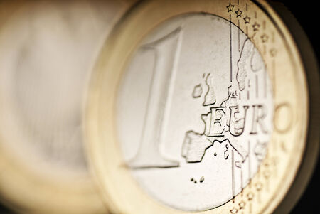 Detail of a euro coin