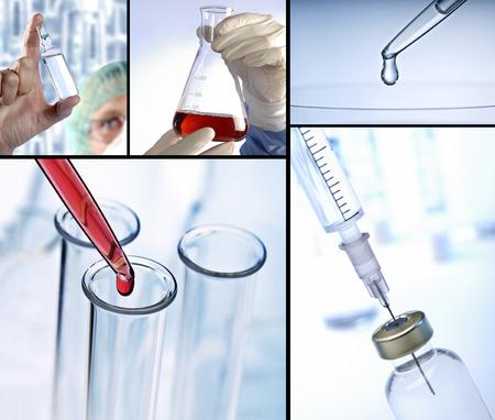 industria quimica: Componer con escenas de la investigación y la medicina