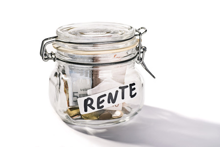 Preserving jar with savings for retirement  photo