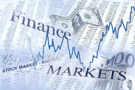 In die Finanzmärkte Komposition für oben und unten.