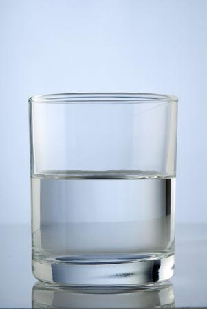 glass half full: A half full glass of water