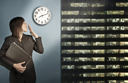 Overtime  Employee is surprised that it is so late