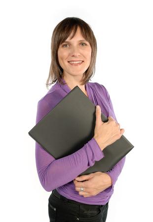 Woman with workbook photo