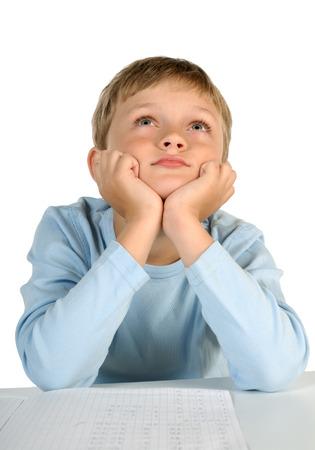fantasize: Dreaming little boy