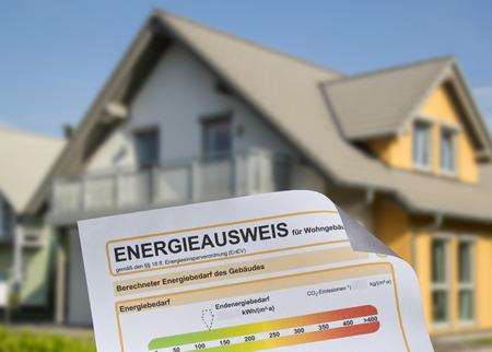 Maison avec certificat de erformance d'énergie Banque d'images - 28092516