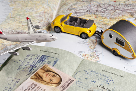 Travel symbols and identity papers