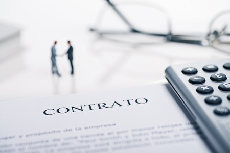 Conclusion of a contract with the spanish word  Contrato