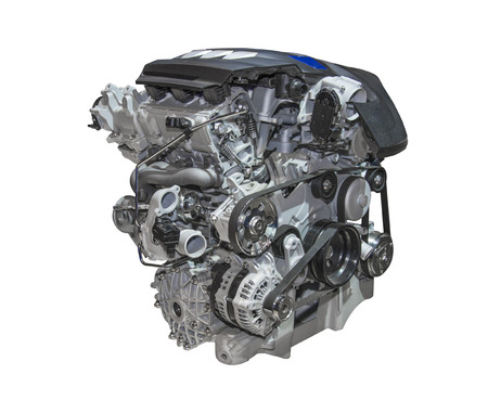 car engine: Engine of a car of the luxury class Stock Photo