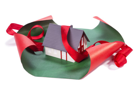 inheritance: House in gift paper