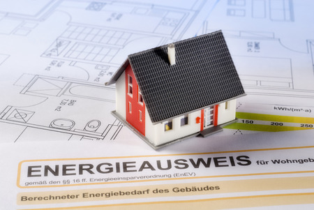 House with building plans and energy certificate