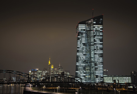 New office building of the European Central Bank (ECB) in Frankfurt.