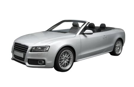 convertible: Luxury convertible in metallic silver paint