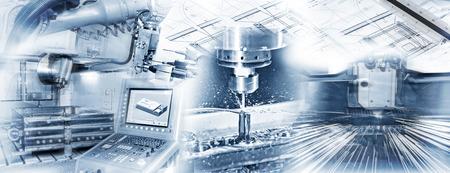 Production avec la machine CNC, perçage et le soudage et le dessin de la construction en exploitation industrielle. Banque d'images - 43692144