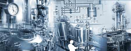 chemical plant: Production equipment an facilitie of chemical and pharmaceutical industries