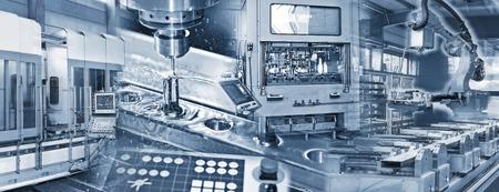 De productie in de industrie met diverse machines Stockfoto