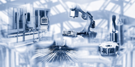 Machines and tools in the automated industry Banque d'images - 100191706