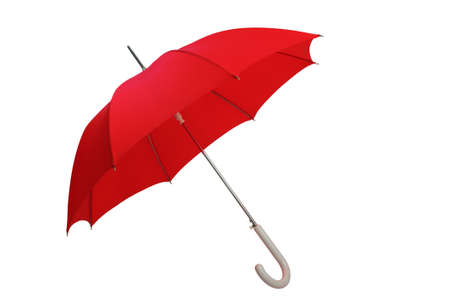 red umbrella: Red umbrella open. With clipping path. Stock Photo